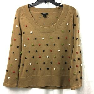 Peck & Peck Collection threaded Pom Pom sweater L
